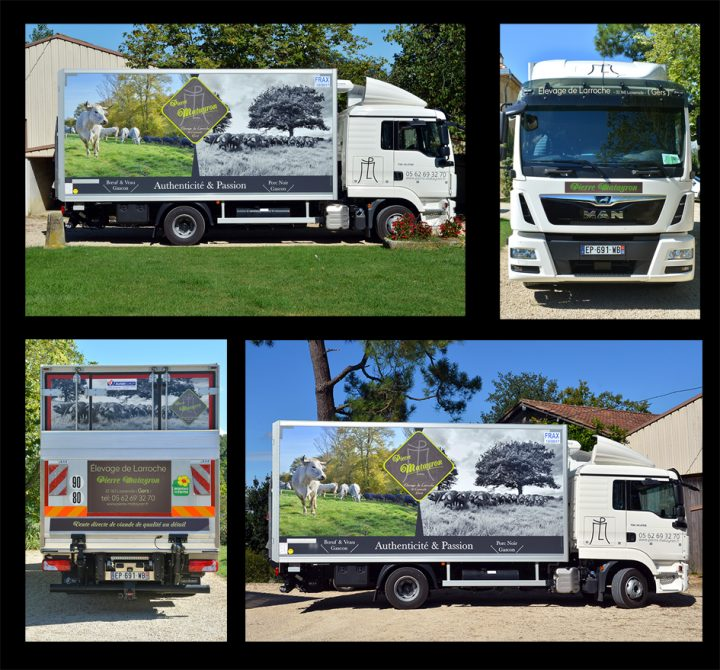 habillage de camion - Août 2017 - réalisation photographique et graphique
